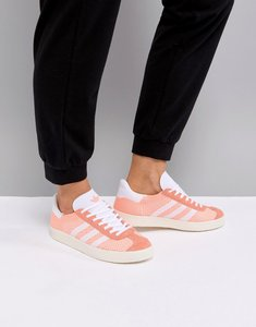 Read more about Adidas gazelle primeknit trainers - pink white