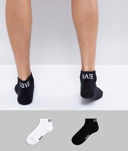 Read more about Levis quarter socks 2 pack love hate east west - multi