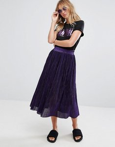 Read more about Monki pleated midi skirt - purple