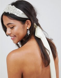 Read more about Johnny loves rosie bridal diamante multiwear ribbon - ivory