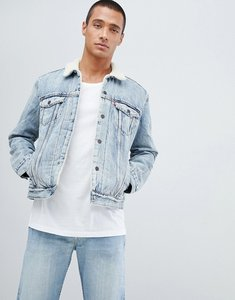 Read more about Levis type 3 borg jacket fine line bleach wash - fine line sherpa