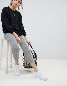 Read more about Asos design cigarette trouser in cropped length in dogtooth check - check
