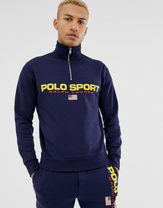 Read more about Polo ralph lauren retro sport capsule logo half zip sweatshirt in navy