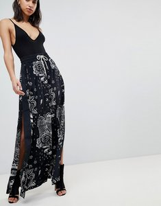 Read more about Diesel tattoo print maxi skirt - black