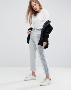 Read more about Asos deconstructed straight leg jeans in tonal 80s bleach light acid wash - light wash blue