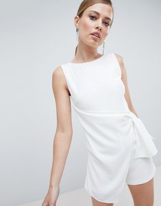 Read more about Lavish alice tailored wrapover playsuit - white