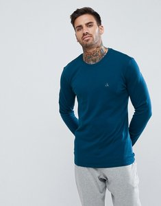 Read more about Calvin klein liquid cotton t-shirt with long sleeves in regular fit - blue