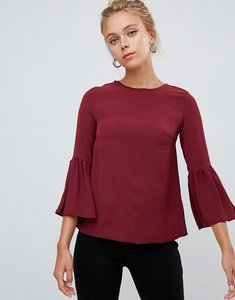 Read more about Glamorous flare sleeve top - burgundy
