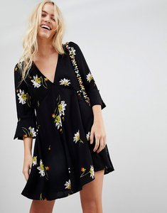 Read more about Free people time on my side floral print dress - black combo