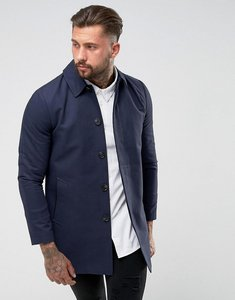 Read more about Asos shower resistant single breasted trench in navy - navy