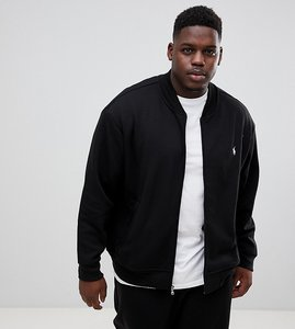 Read more about Polo ralph lauren big tall full zip sweat bomber player logo in black - polo black