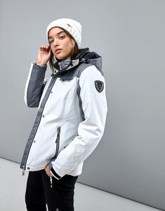 Read more about Killtec function ski jacket with detachable hood - white grey melange