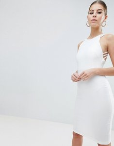Read more about Vesper strappy back midi dress in white