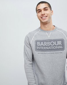 Read more about Barbour international large logo crew neck sweat in grey - grey