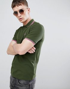 Read more about Fred perry twin tipped polo in olive - g11