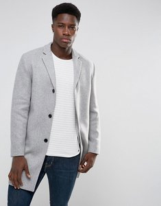 Read more about Selected homme wool mix overcoat - light grey melange