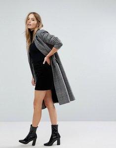 Read more about Warehouse velvet a-line mini skirt - black