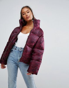 Read more about Asos puffer coat in camo - red