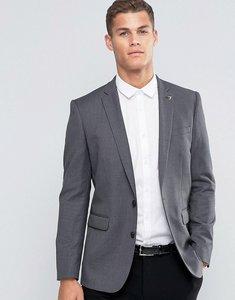 Read more about Farah skinny dogtooth blazer - light grey