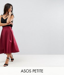 Read more about Asos petite bow back scuba prom skirt - wine