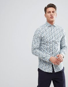 Read more about Selected homme slim fit smart floral shirt - white