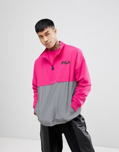 Read more about Fila black line levi overhead jacket with reflective panel in pink - pink