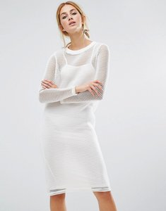 Read more about Noisy may mesh overlay dress - white