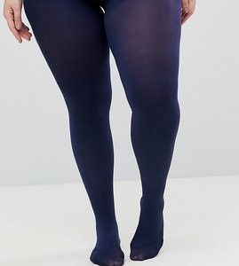 Read more about Asos design curve super stretch 90 denier tights in navy - navy