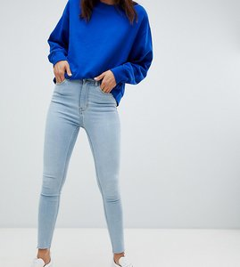 Read more about Weekday body high waist superstretch raw hem skinny jean