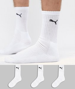 Read more about Puma 3 pack crew socks in white 7312300 - white