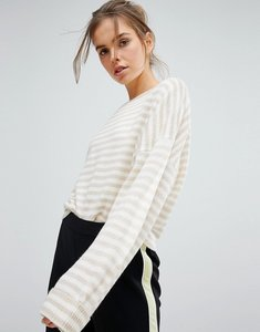 Read more about Micha lounge stripe slouchy jumper - oatmeal