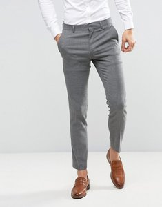 Read more about Asos wedding skinny suit trouser in grey micro texture - grey