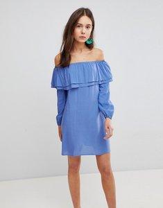 Read more about Glamorous off shoulder dress - denim blue