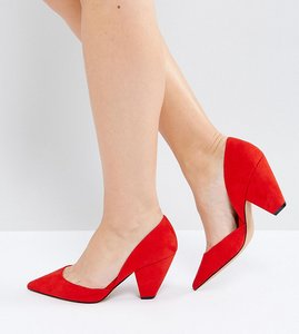 Read more about Asos sulphur wide fit pointed heels - red