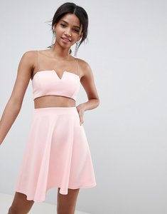 Read more about Asos design co-ord mini skater dress - pale pink