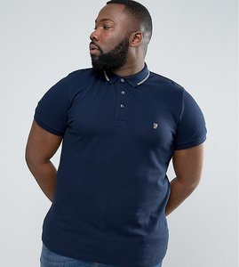 Read more about French connection plus polo shirt with twin tip collar - marine