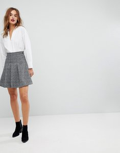 Read more about Warehouse textured skater skirt - grey