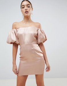 Read more about Missguided puff sleeve dress - bronze