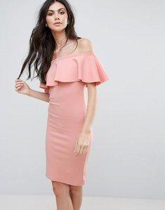 Read more about Be jealous bardot midi dress - rose pink