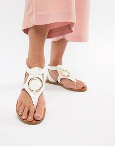 c975c8ba28c asos design farringdon flat sandals white - Shop asos design ...