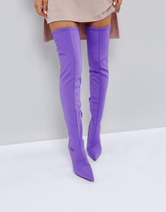Read more about Public desire refuge over the knee boots - purple