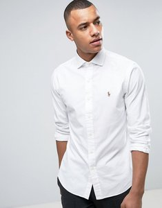 Read more about Polo ralph lauren twill shirt slim fit cutaway collar in white - white