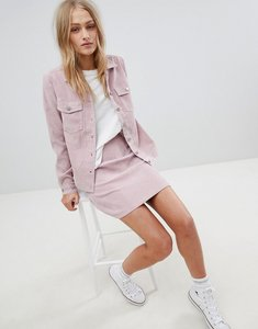 Read more about Daisy street mini skirt in vintage cord - dusty pink