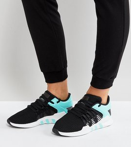 Read more about Adidas originals eqt support rf trainers in black and mint - black