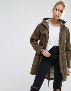 Read more about Asos summer parka with jersey lining - khaki