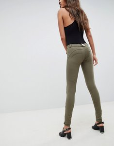 Read more about Freddy wr up shaping effect mid rise snug stretch push up jegging - khaki