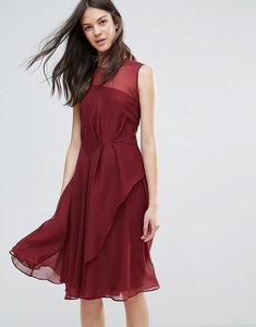 Read more about French connection winter ray chiffon dress - zinfandel