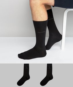 Read more about Boss by hugo boss 2 pack socks - black
