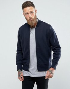 Read more about Ps paul smith logo sweat bomber jacket in navy - navy