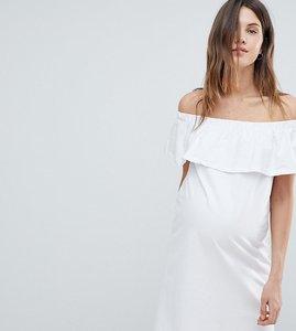Read more about Mamalicious bardot jersey dress - white